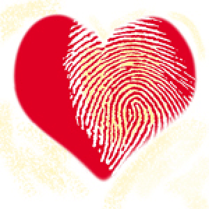 Image of Fingerprint on Heart - For the article Find Your Dream Lover